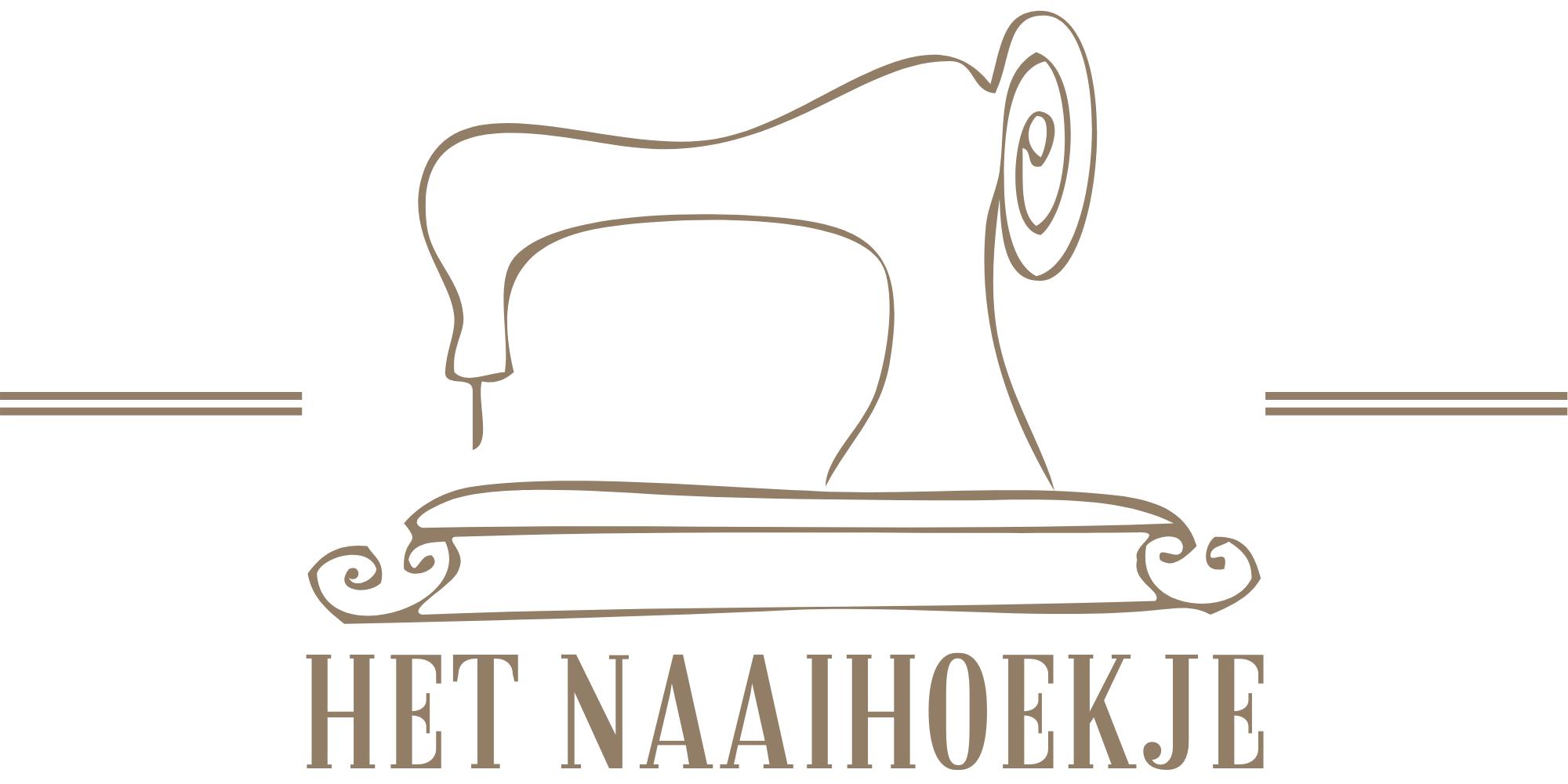 Het Naaihoekje Goud Rustiek Vintage rechthoek Logo